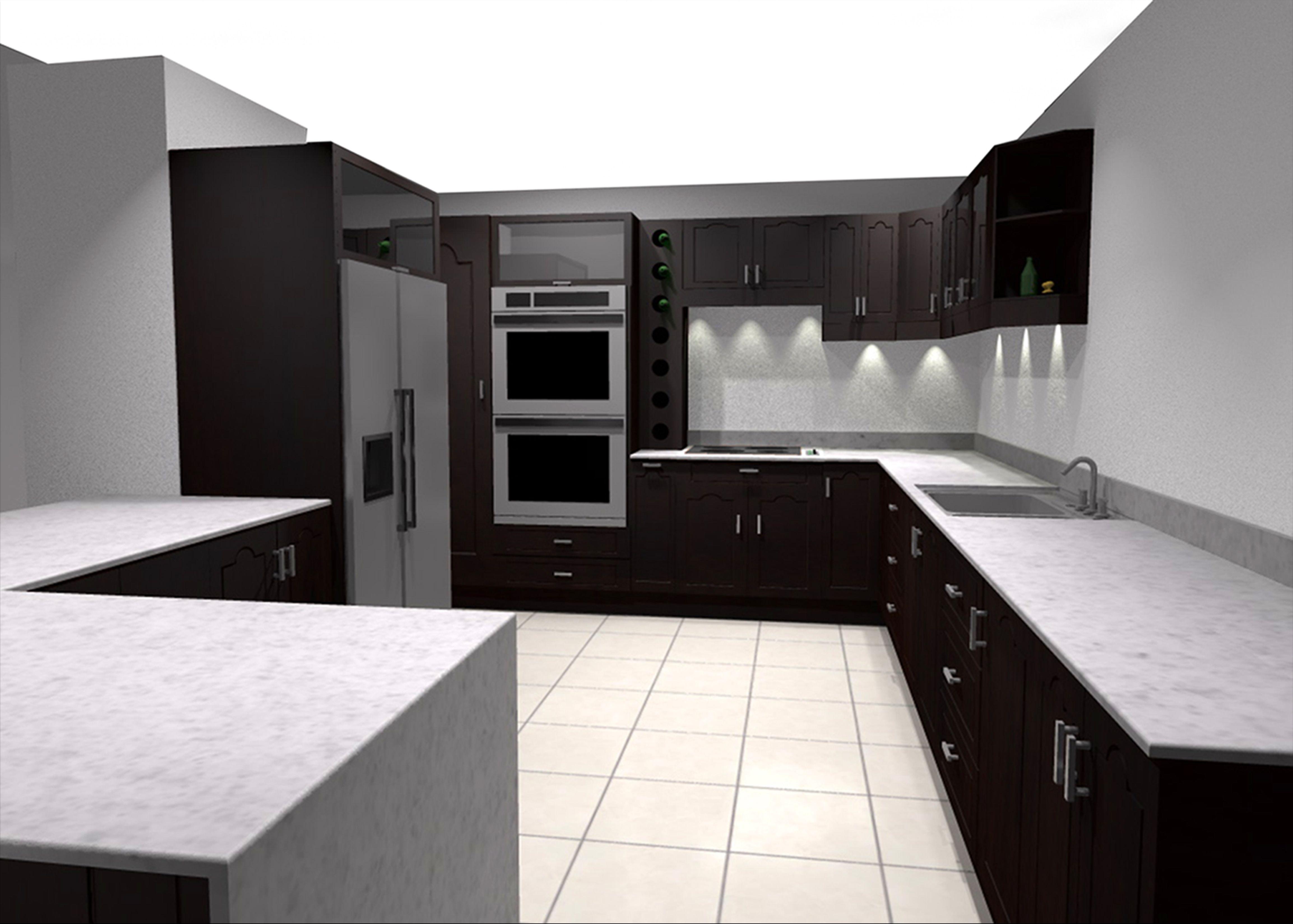 Mueble De Cocina Render Producci N Digital Siete Comunicaci N  # Muebles Digitales