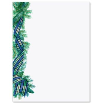 Plaids And Pines Letter Paper  Christmas Cards An Decorations