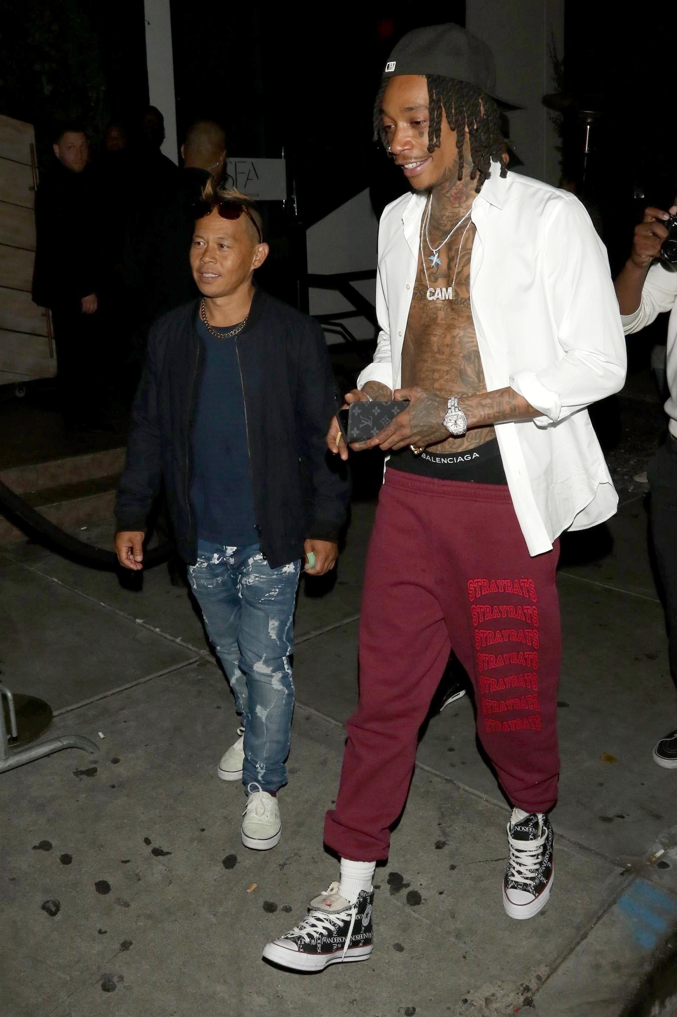 d10a1a48a8b7 Wiz Khalifa wearing Balenciaga Trio Of Boxers