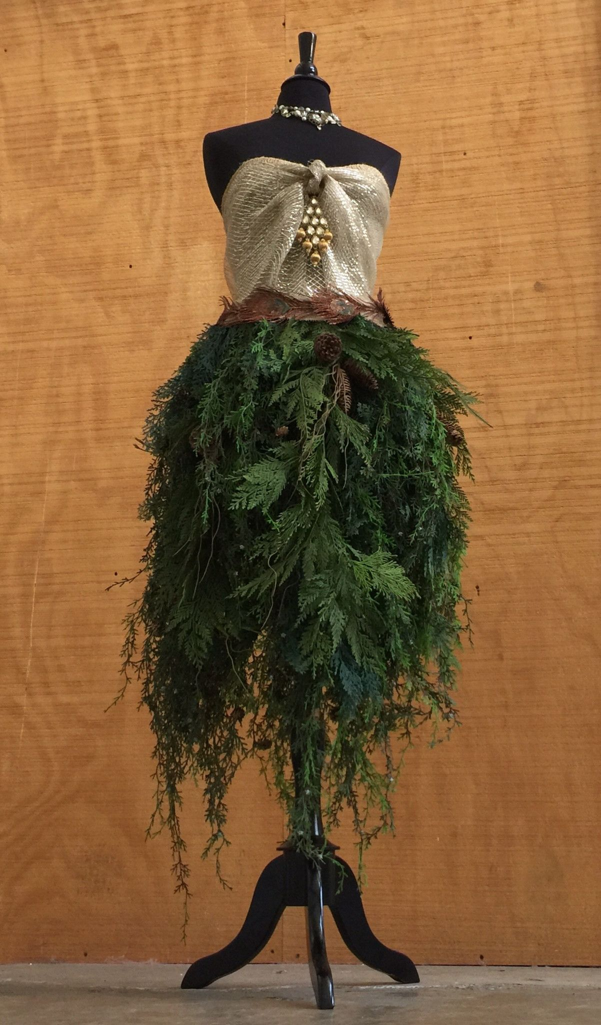 Custom Made Dress Form Christmas Tree Real Pine Brances