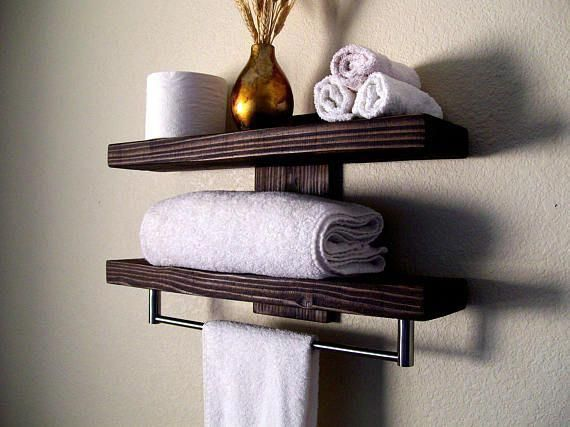 Bathroom Shelves Floating Shelves Towel Rack Bathroom Shelf Wall Shelf Wood Shelf Floating Shelf Toil Shelves Over Toilet Bathroom Shelf Decor Floating Shelves