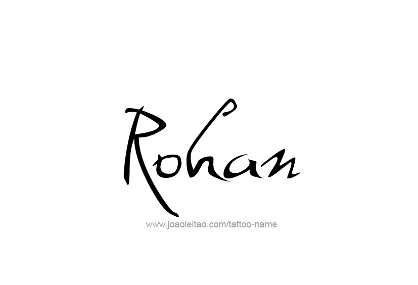 Rohan Name Tattoo Designs Name Tattoos Name Tattoo Designs Tattoo Designs