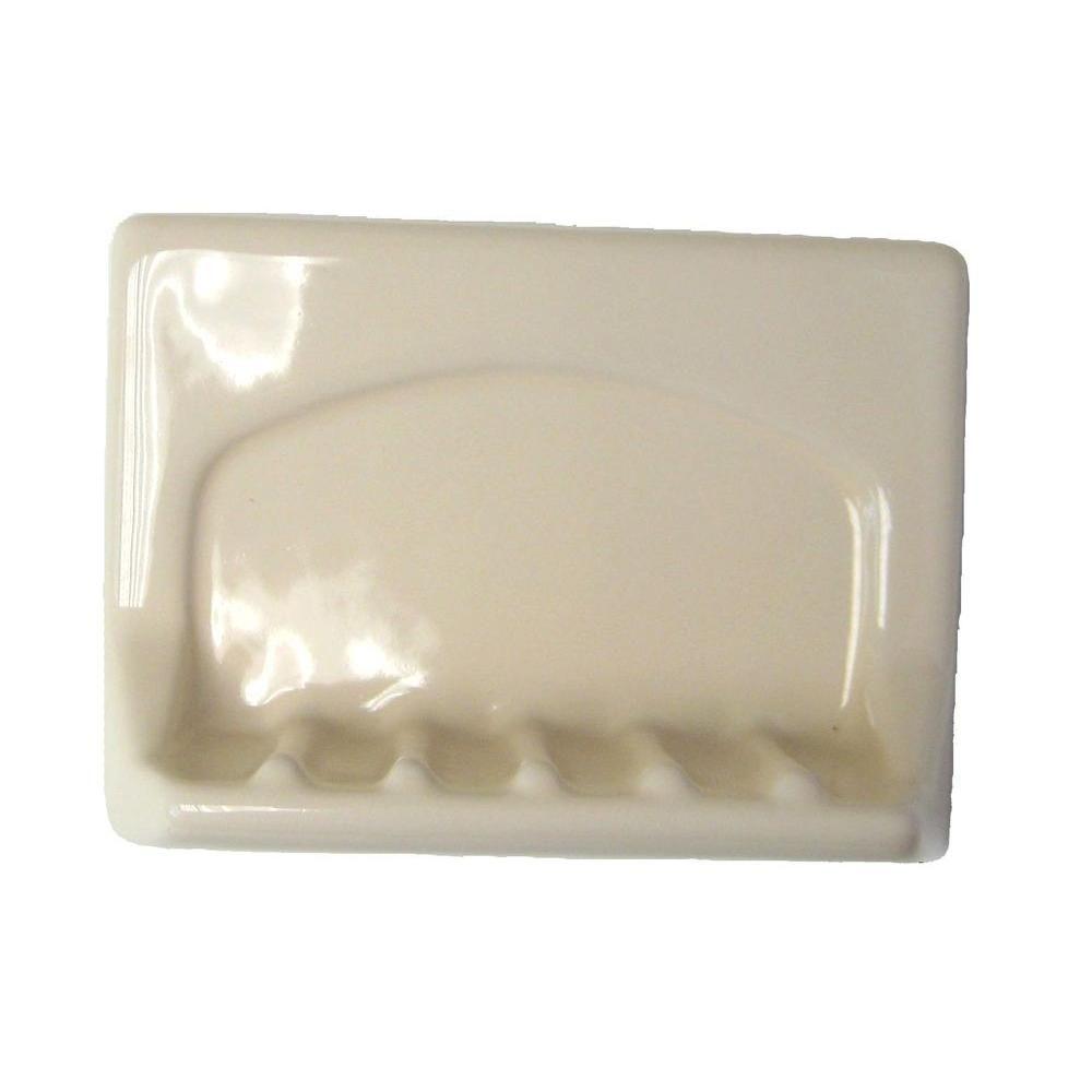 Lenape Wall Mounted White Ceramic Tub Soap 4 In X 6 In 197501 Soap Ceramics Shampoo Bottles
