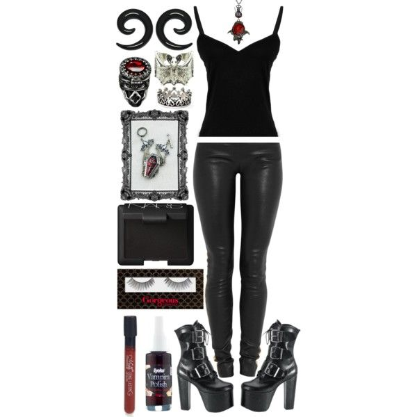 Glampire Metalhead - Basic 02 by misssookielemort on Polyvore featuring moda, Jay Ahr, NARS Cosmetics, Gorgeous Cosmetics and Eyeko