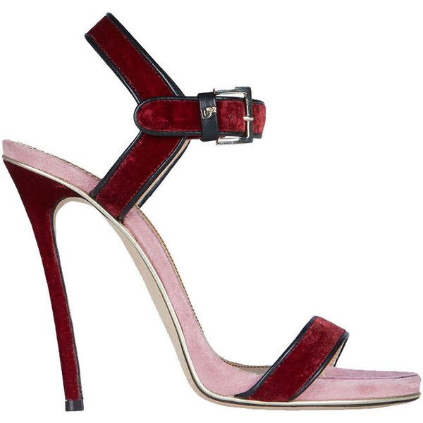348092058be DEREN Ankle Strap Stiletto Heel Sandals (145 CAD) ❤ liked on Polyvore  featuring shoes