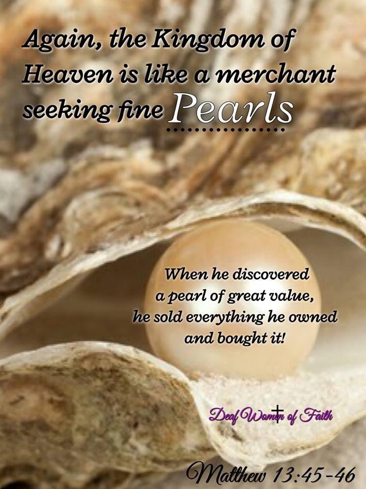 Matthew 13:45-46   MATTHEW   Pinterest   Scriptures, Pearl ...