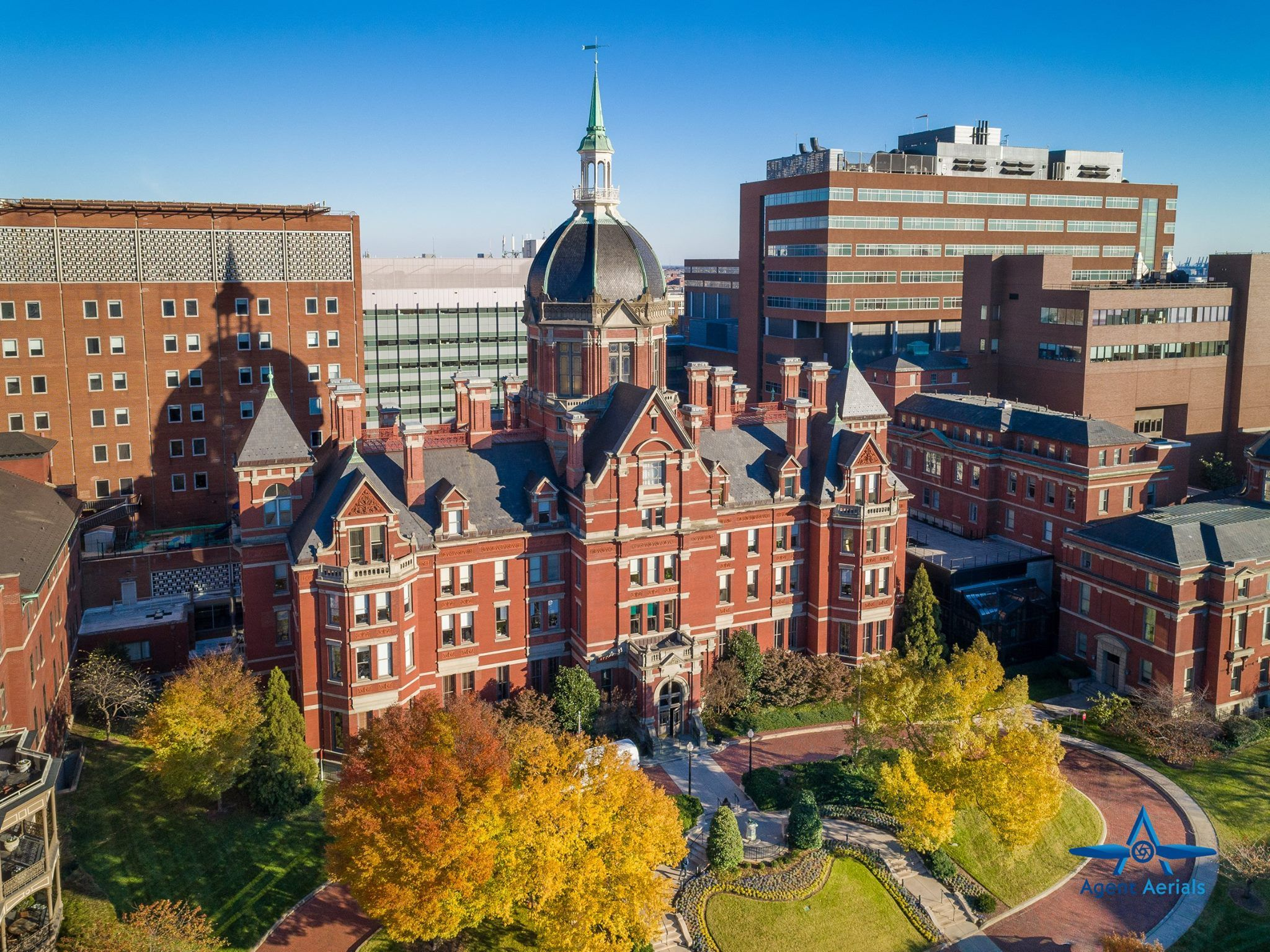 Baltimore Baltimore Maryland John Hopkins Hospital Dome Johns Hopkins Hospital University Campus Johns Hopkins University