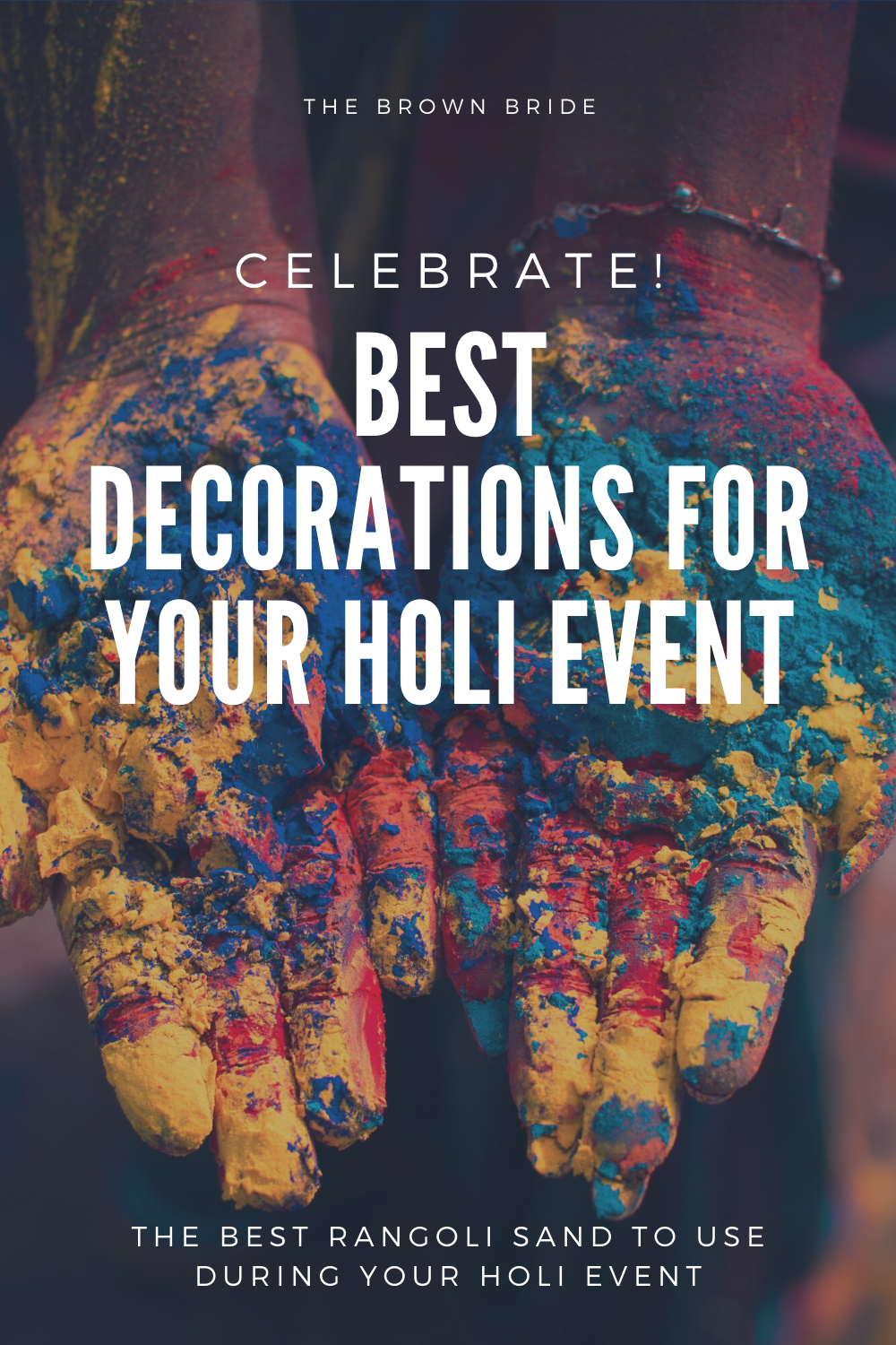 Are you celebrating Holi this year? The perfect way to decorate your event is using #Rangoli sand in perfect #designs. Try it out and let us know what you think. #affiliatelink #thebrownbride #southasianweddings #holi #holicelebration #festivalofcolors #rangolisand #desiwedding #desievent #desis #india #hindu #hinducelebration