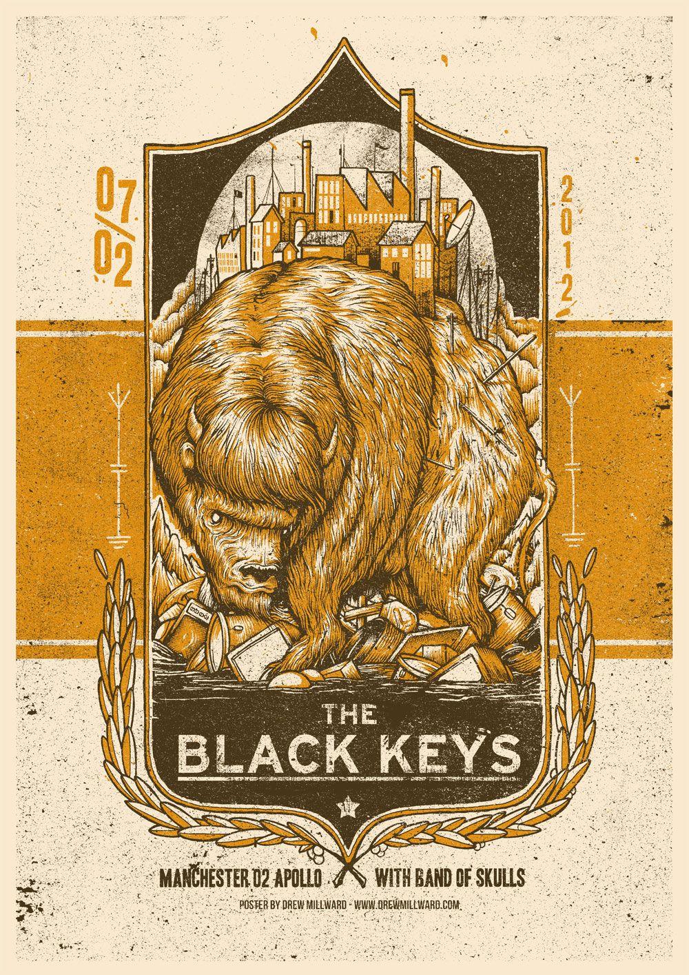 black keys concert posters