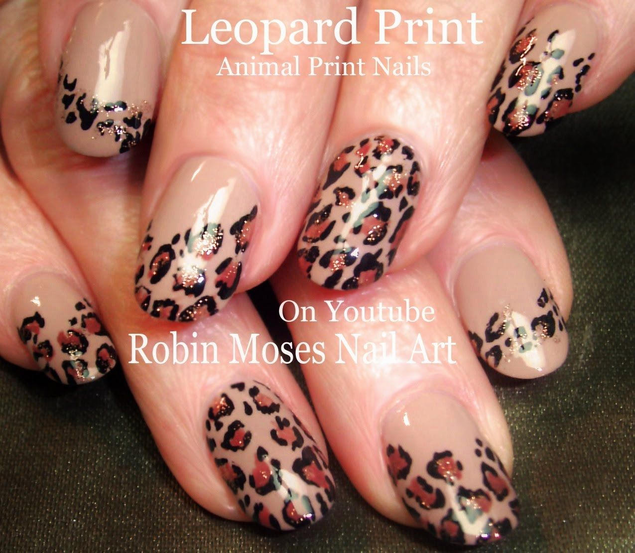 Nail Art | DIY EASY Leopard Print Nails | Fall Nail Design Tutorial ...