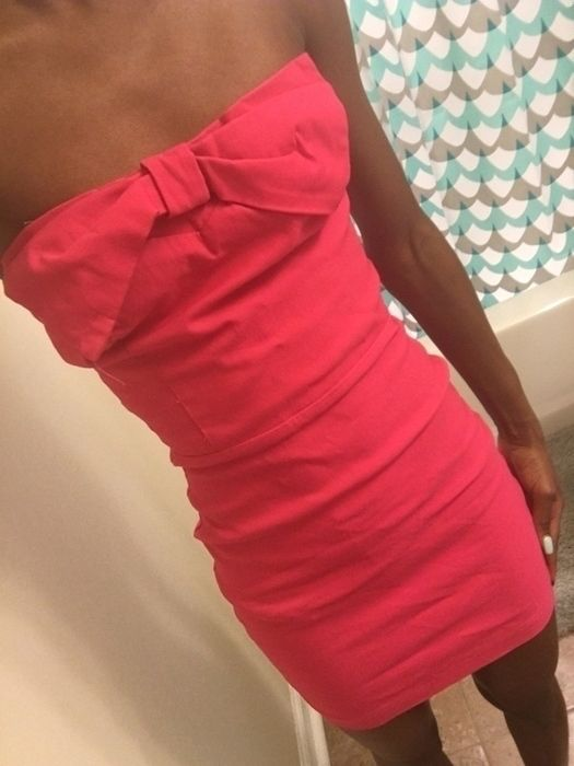 d7696d0978 My Cute Hot Pink Bodycon Dress by Charlotte Russe! Size 4 / S, Strapless