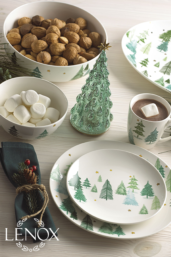 Lenox Balsam Lane Dinnerware Holiday Dinnerware Christmas Tableware Winter Dinnerware