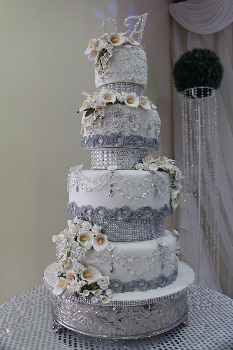 silver glitter wedding cakes - Google Search | GATEAUX ...