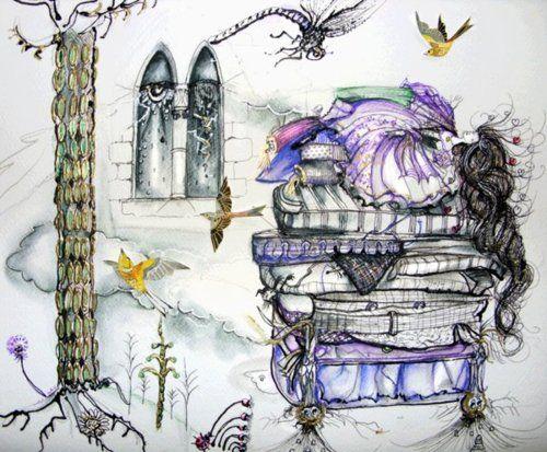 "fairytalemood:    ""Princess … and the pea …"" by TriciaS"