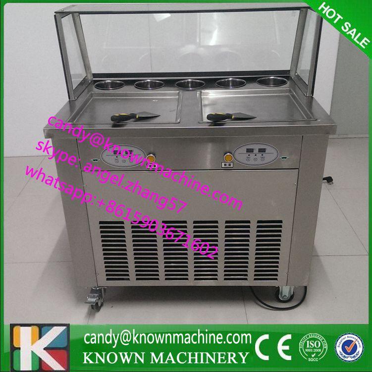 Flat Pan Fried Ice Cream Machine Ice Pan Maker 110v Fry Ice Cream