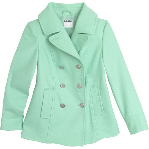 mint green pea coat ❤ liked on Polyvore | A m a z i n g F ...