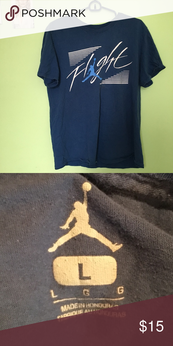 29e8d59a3799 Blue Jordan Flight Boys T-Shirt Blue Jordan Flight Boys T-Shirt. Large Jordan  Shirts   Tops Tees - Short Sleeve