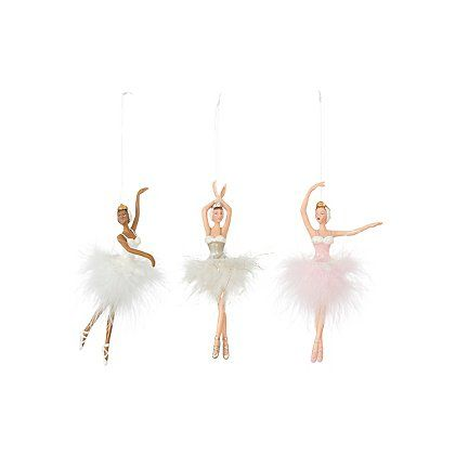 George Home Ballerina Christmas Tree Decorations Christmas Shop George At Asda Christmas Tree Decorations Tree Decorations Christmas Tree Themes