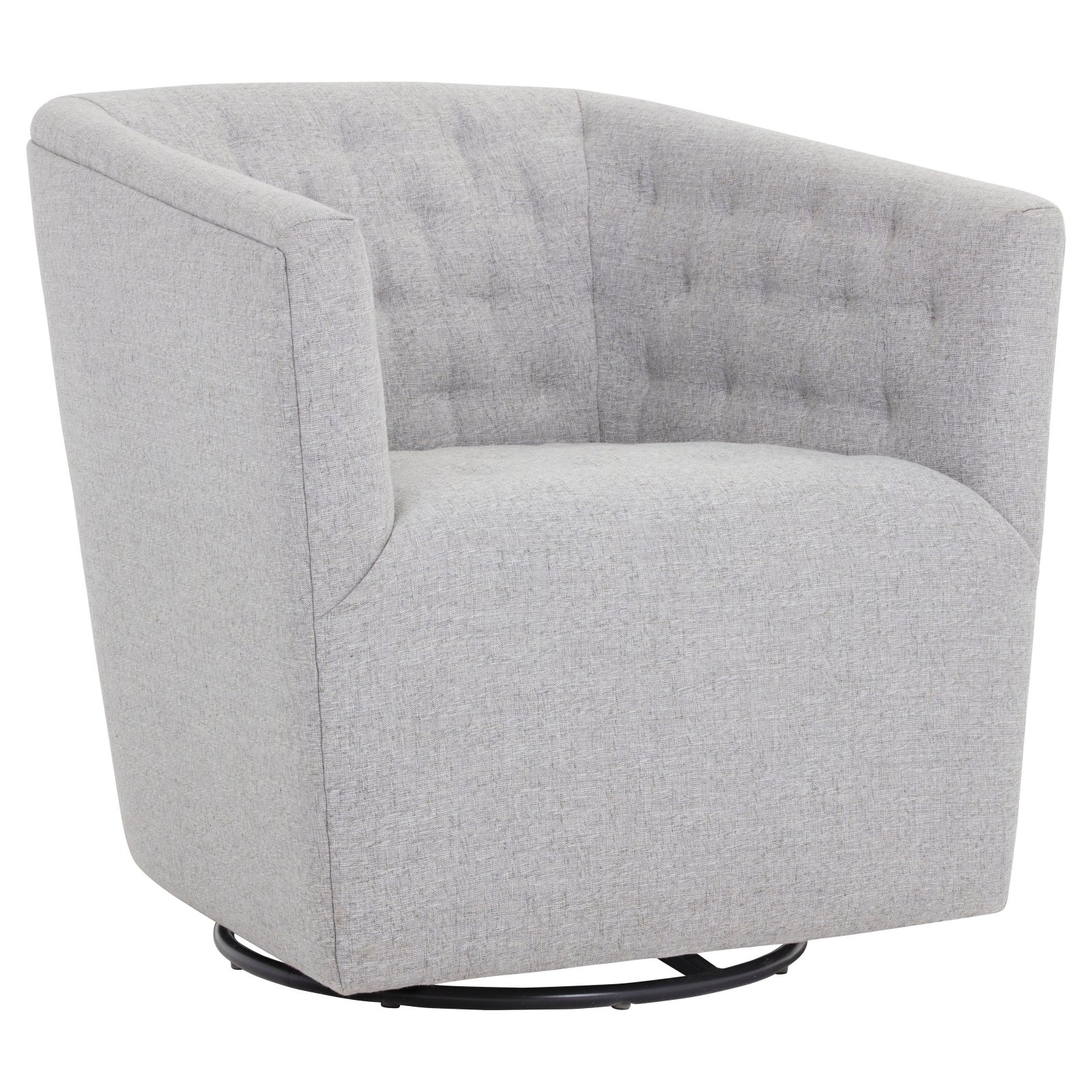 Sunpan Reeves Swivel Barrel Chair Marble | Swivel barrel ...