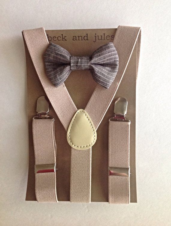 Little boy suspender and matching bow tie set | Sewing ...