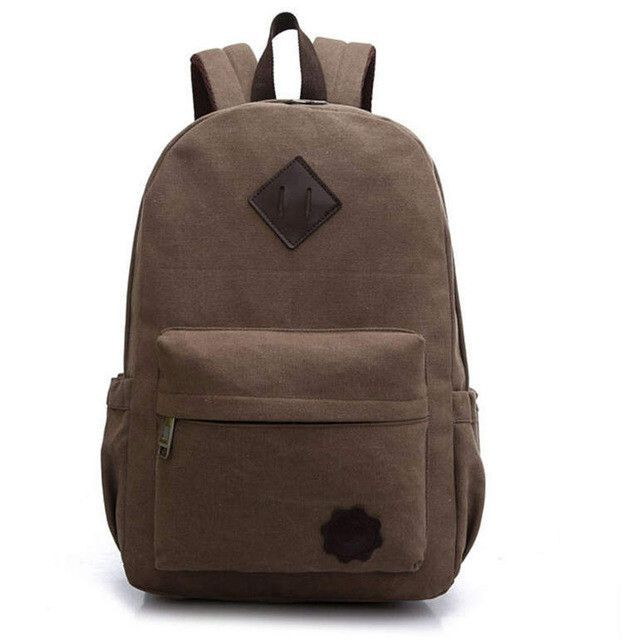 Men Canvas Backpack Teenage Boys School Bag Vintage Laptop Backpacks  Students Casual Travel Rucksack Shoulder Bags Black XA1054C 56ecc6863dcd9