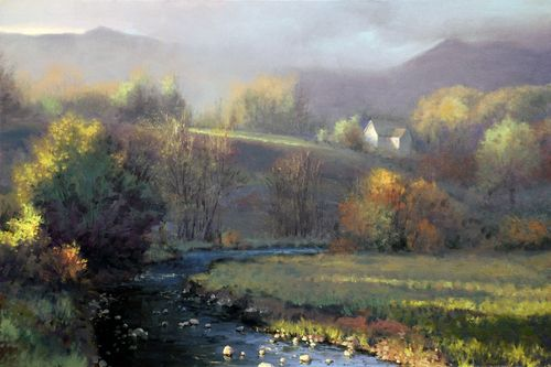 Shenandoah Morning By Michael Godfrey Colorful Landscape Landscape Paintings Landscape