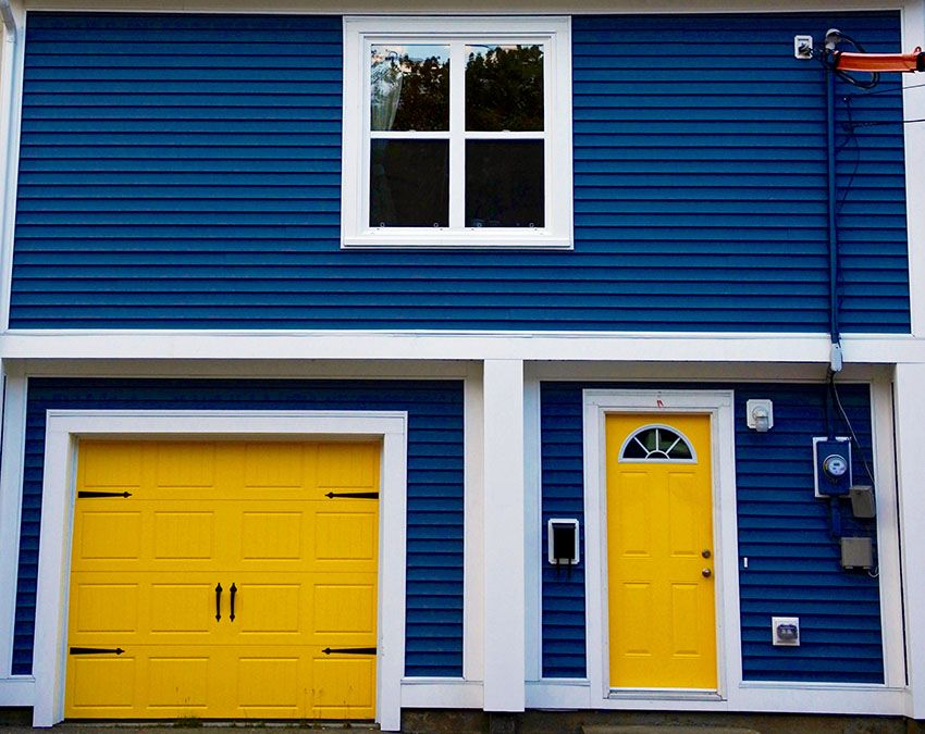 Yellow Garage Door House Color Ideas