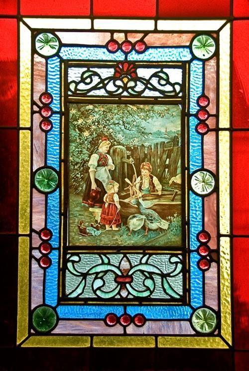 722 Steiner Shannon Kavanaugh House Antique Stained Glass Windows Vintage House Stained Glass Windows