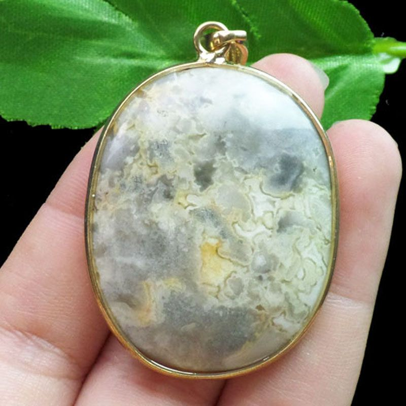 Beautiful Crazy Lace Agate Gemstone Pendant Bead by soyon on Etsy