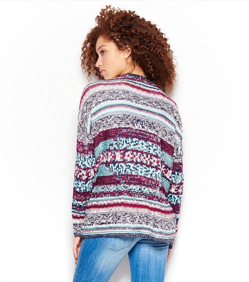 Jacquard Sweater Cardigan