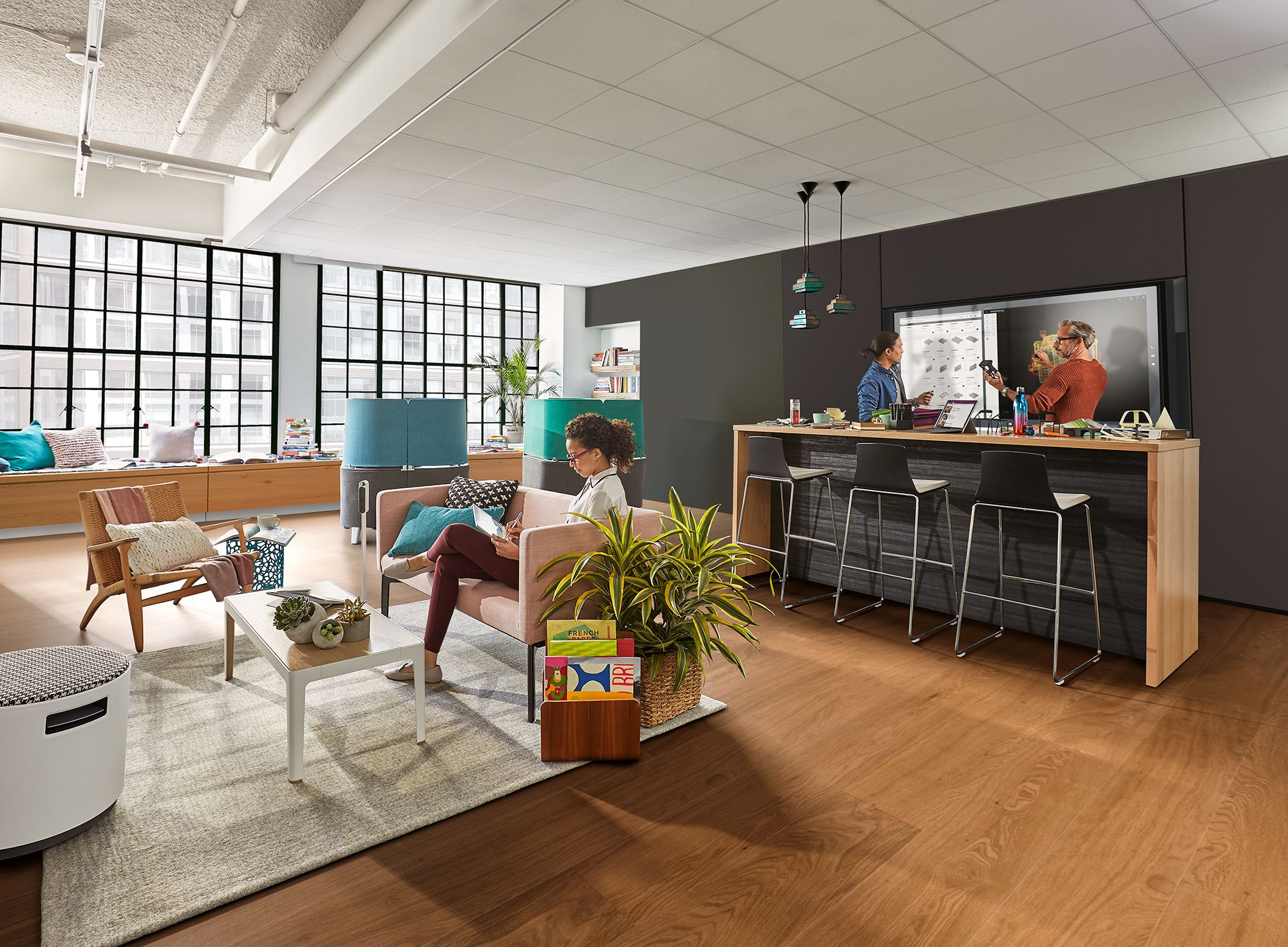 office interior design magazine. The Maker Commons, One Of Five Creative Spaces Developed By Steelcase And Microsoft To Boost. Glass OfficeOffice Interior DesignInterior Office Design Magazine