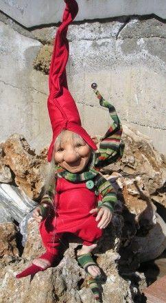 Gineto, Fate Folletti di Porcellana - Gnomi Folletti Elfi di Avalon - Personaggi in porcellana di Bisquit Altezza: circa 40/45cm.