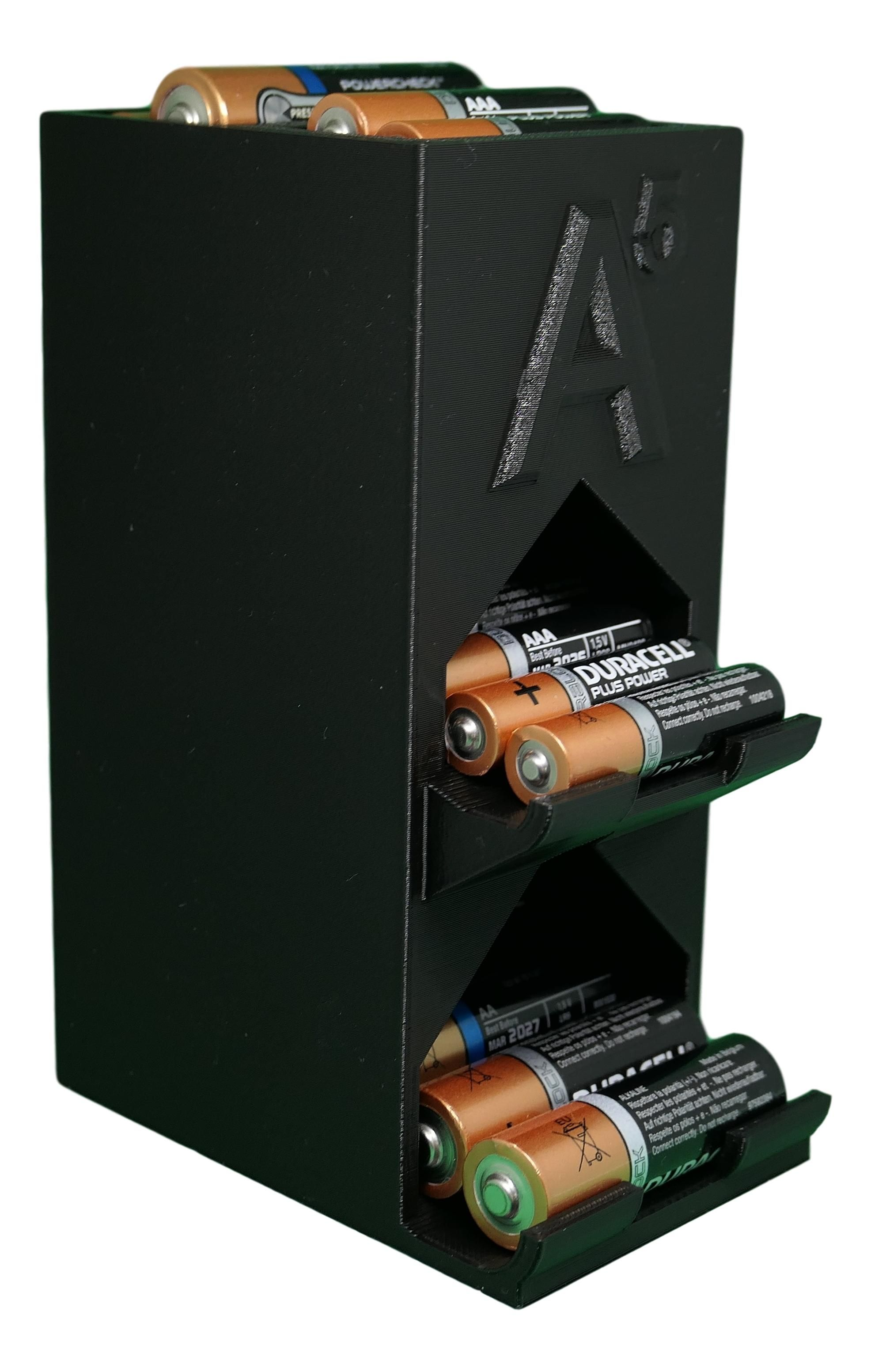 Aa And Aaa Battery Dispenser Etsy Battery Storage Aaa Batteries Donate To Charity