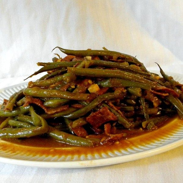how to cook garden green beans on the stove