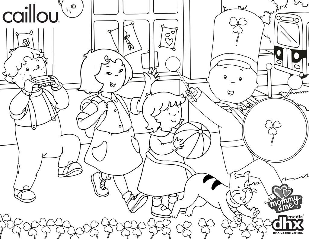 72 caillou coloring picture caillou coloring pages