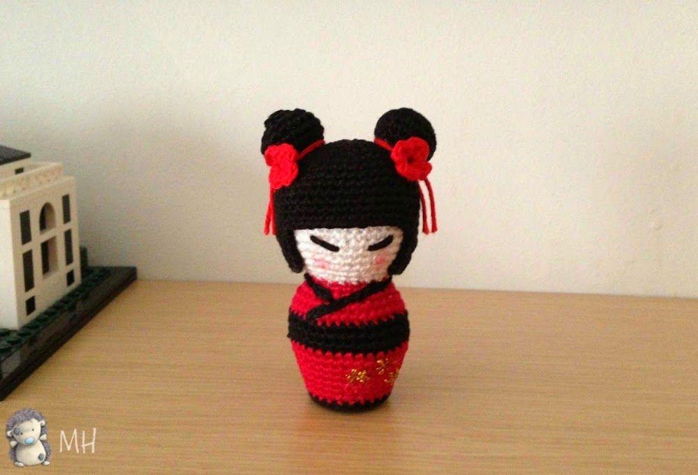 Amigurumi Doll Free Pattern : Little kokeshi amigurumi crochet amigurumi