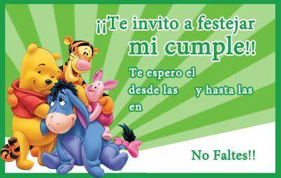 Tarjeta De Cumpleaños De Winnie Pooh Tarjetas De