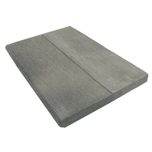 Margelle droite en pierre reconstituée Alpège, gris | Jardin et ...