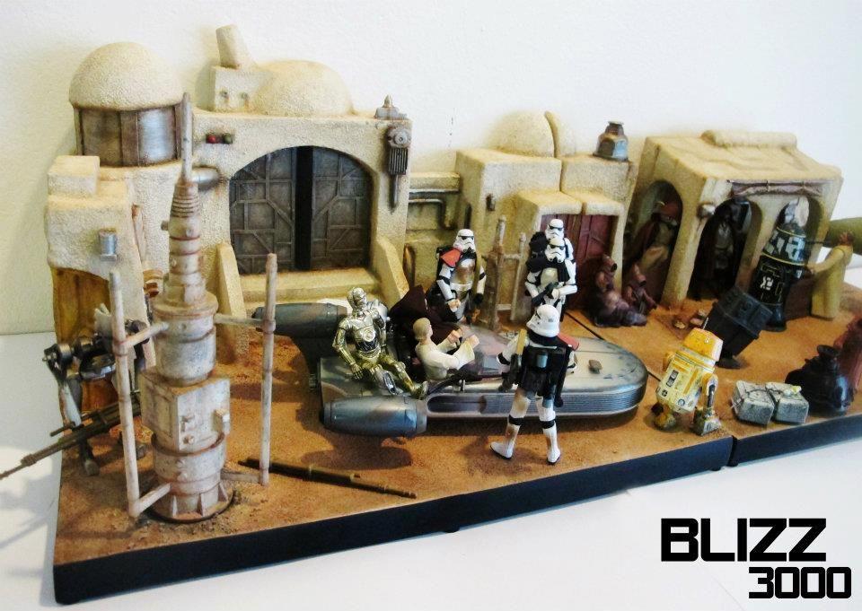 star wars diorama backgrounds - Google Search   neat   Star wars