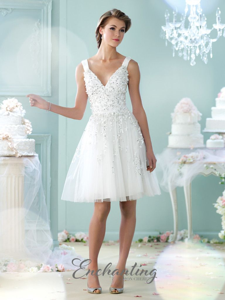 Enchanting by Mon Cheri - 215104 - Sleeveless tulle knee-length A ...