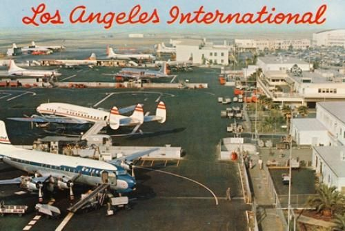 Lax 1950s Postcard Los Angeles Airport Los Angeles International Airport Vintage Airline Ads