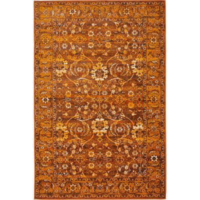 Unique Loom Constantinople Orange/Brown Area Rug Rug Size:
