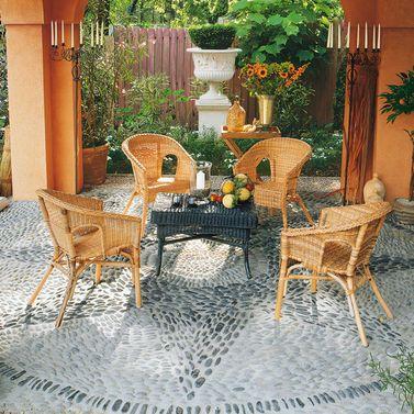 Terrassen planen Mosaik muster, Bauanleitung und Terrasse - hangematten fur terrasse garten sommerliches flair