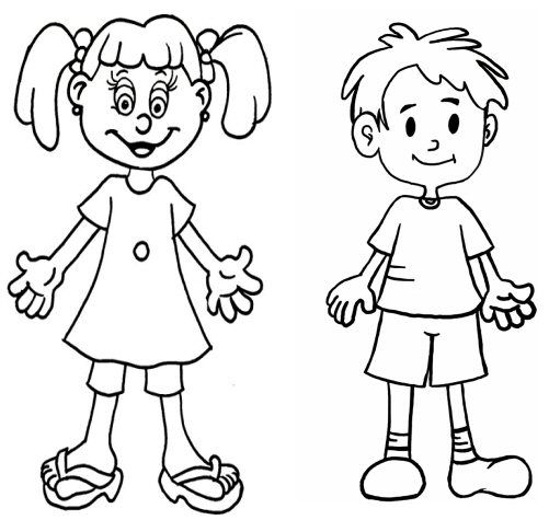 menino e menina para colorir pesquisa google képek tanításhoz