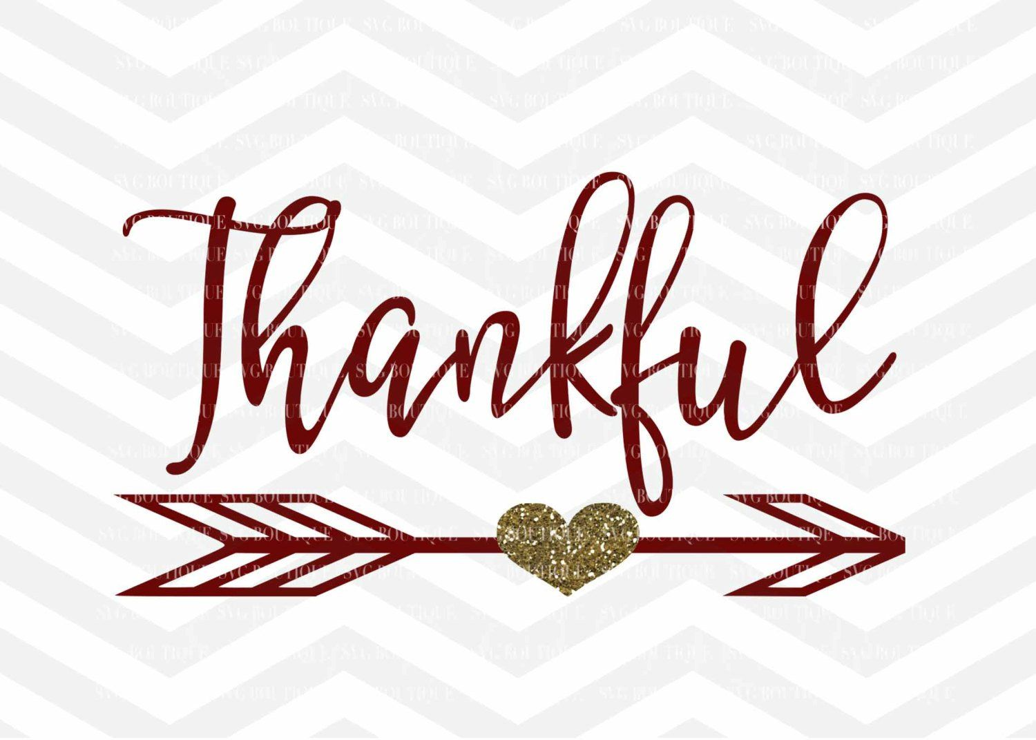 Thankful SVG File Thanksgiving Digital File For Cricut