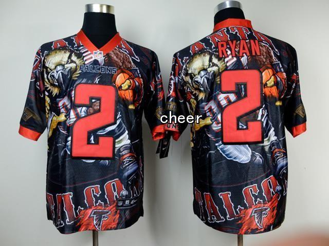 Atlanta Falcons Elite #2 ryan black NFL Fanatical Version Jersey  hot sale
