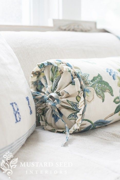 Fancy bolster pillow slipcover from one my favorite Sew bolster pillow cover