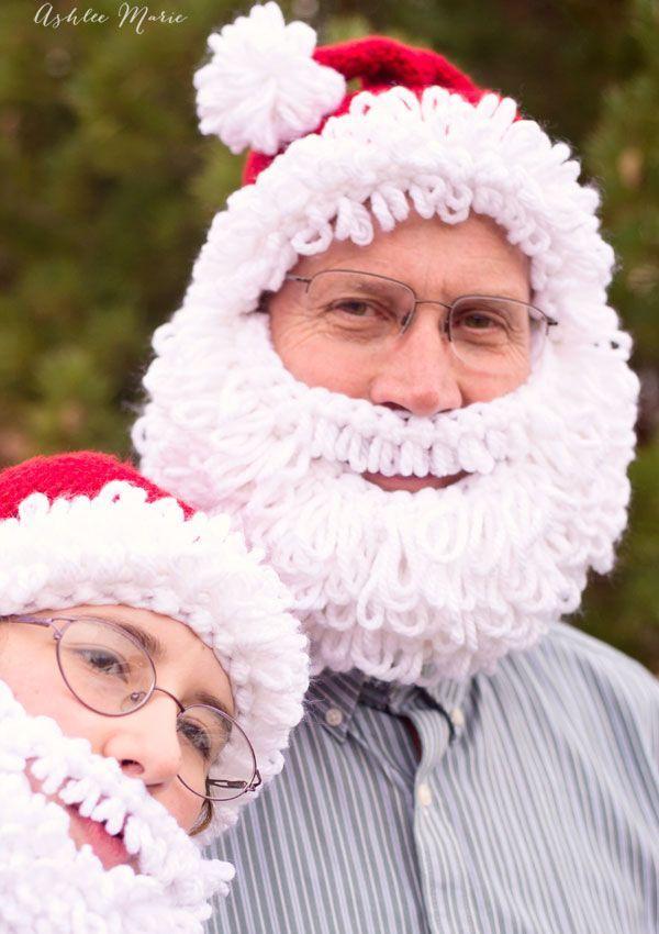 FREE Crochet Pattern - Double Loop Bearded Santa Hat in all sizes ...