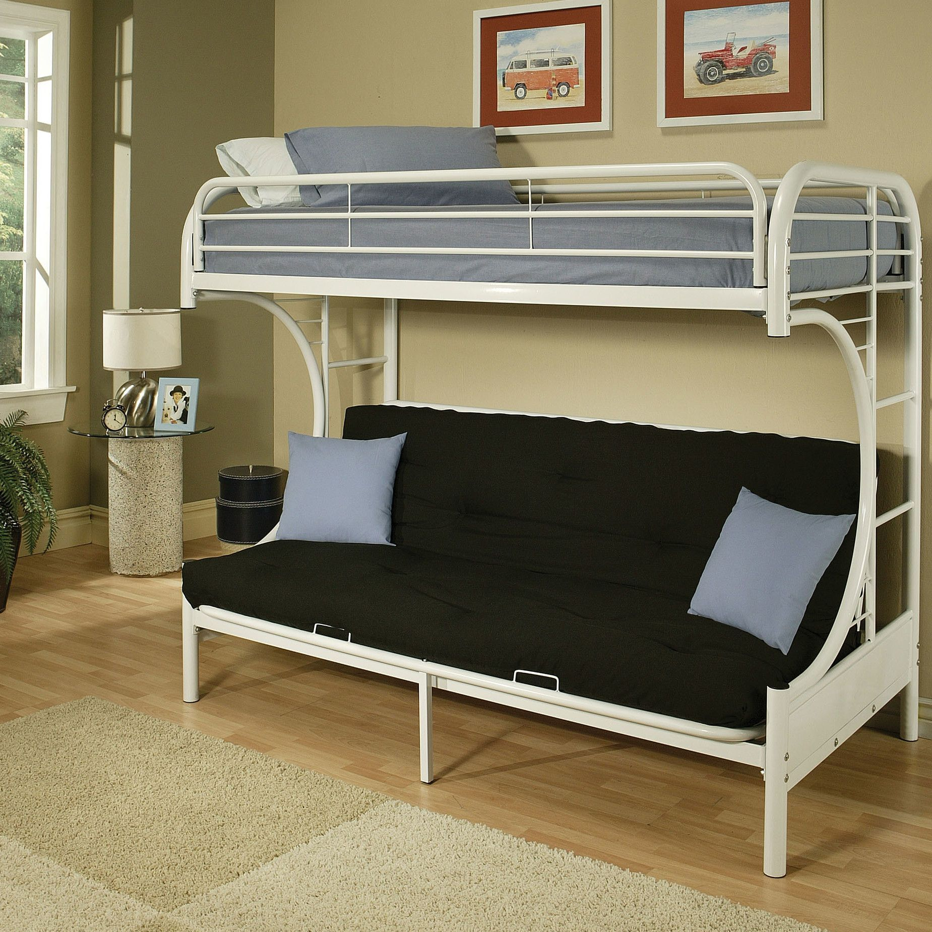Eclipse Futon Bunk Bed White bunk beds, Bunk beds