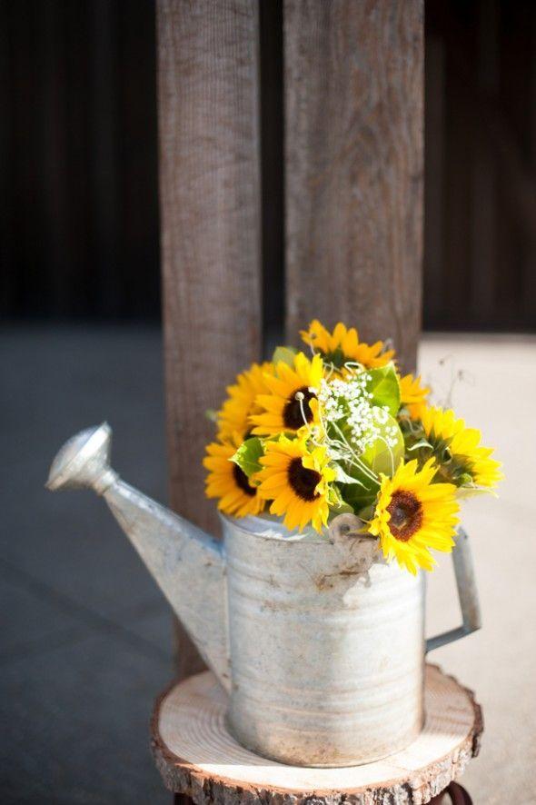 Detalhes De Festa Junina Rustic Sunflower CenterpiecesSunflower